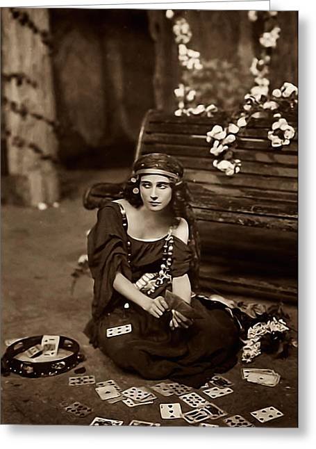 Cards Vintage Greeting Cards - Gypsy Greeting Card by Unknown