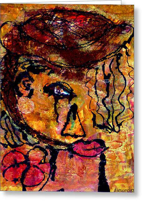 Gypsy Greeting Cards - Gypsy Woman Greeting Card by Alexandra Jordankova