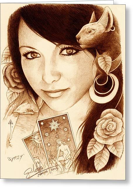 Gypsy Greeting Cards - Gypsy Greeting Card by Yuri Leitch