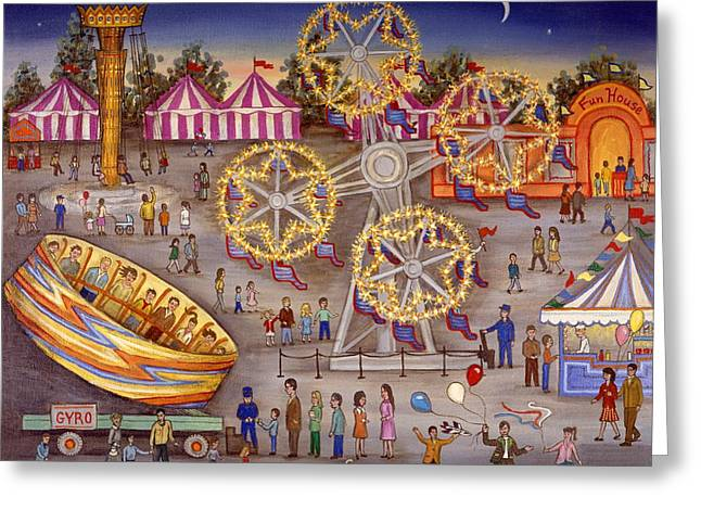 Top Seller Greeting Cards - Gyro at the Carnival Greeting Card by Linda Mears