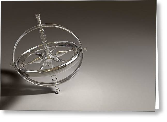 Childs Play Greeting Cards - Gyroscope Greeting Card by Scott Norris