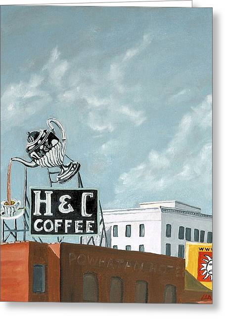 H And C Coffee Greeting Card by Todd Bandy