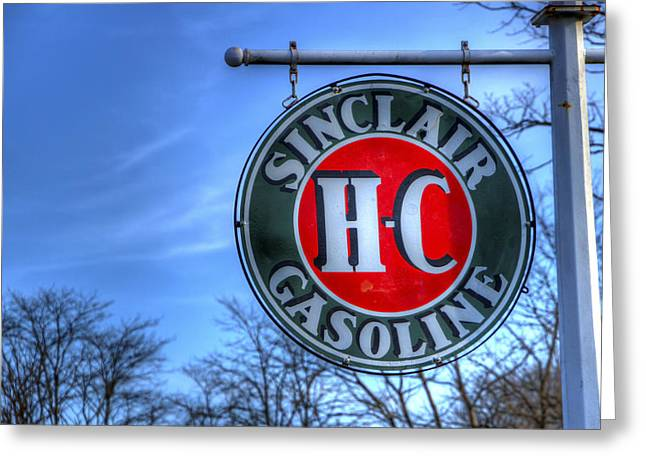 H-c Sinclair Gasoline Greeting Card by David Simons