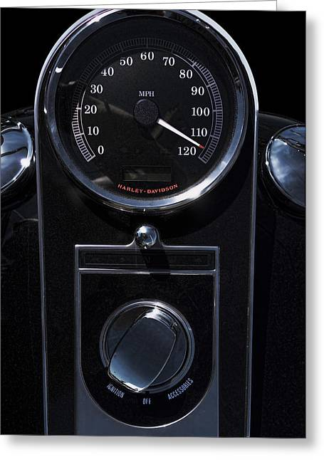 Speedometer Greeting Cards - H D Taking It To The Moonlight Limit Greeting Card by Daniel Hagerman