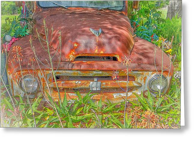 Classic Pickup Mixed Media Greeting Cards -  International Harvester  Greeting Card by Dennis Dugan