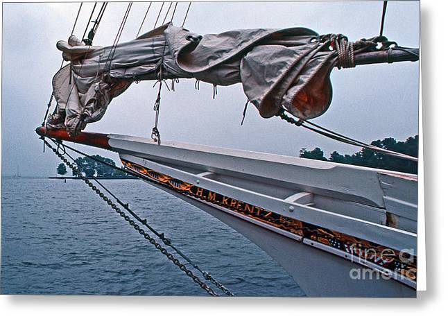 Sailboat Photos Greeting Cards - H M Krentz Greeting Card by Skip Willits