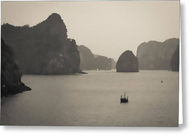 Neely Greeting Cards - Ha Long Bay Greeting Card by Brian Neely