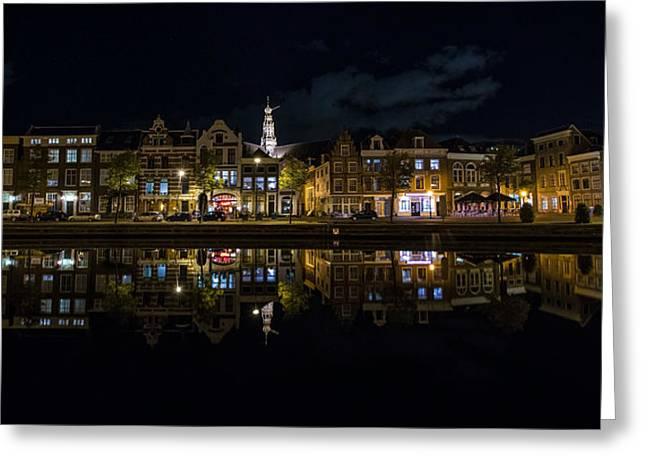 Exposure Greeting Cards - Haarlem Night Greeting Card by Chad Dutson