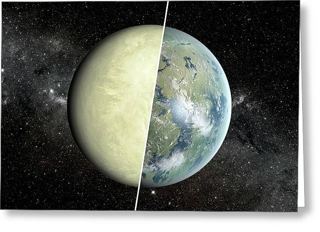 Habitable Vs Non-habitable Zone Planet Greeting Card by Nasa/jpl-caltech/ames