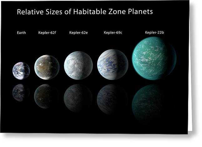 Habitable Zone Planets Greeting Card by Nasa/ames/jpl-caltech