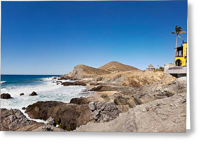 Baja California Greeting Cards - Hacienda Cerritos On The Pacific Ocean Greeting Card by Panoramic Images