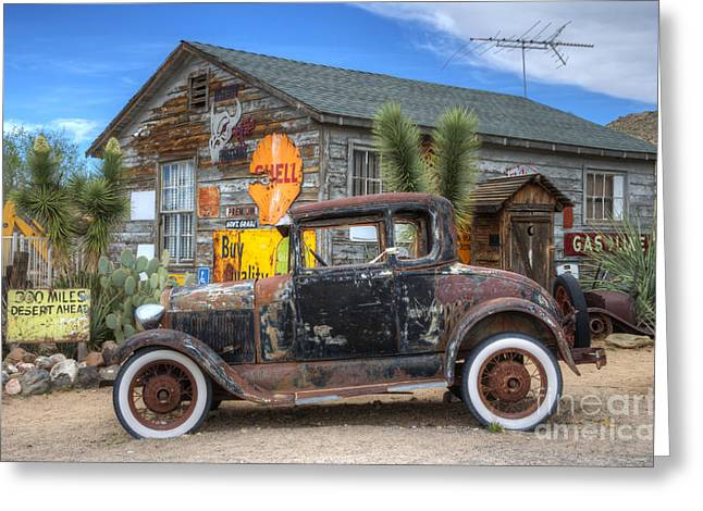 Get Greeting Cards - Hackberry Arizona Route 66 Greeting Card by Bob Christopher