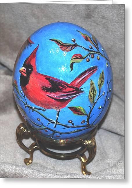 Bird Jewelry Greeting Cards - Hackberry Heaven Greeting Card by Nancy Cason