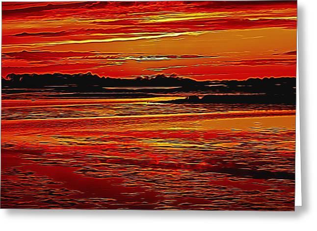 Turbulent Skies Greeting Cards - Hadean Twilight Greeting Card by John Bailey