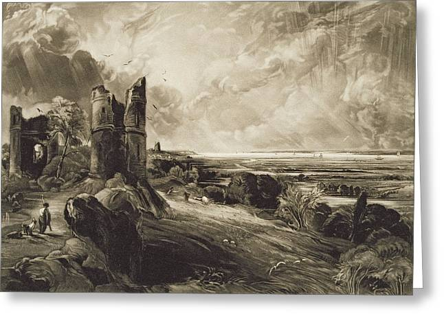 Shepherds Greeting Cards - Hadleigh Castle, Engraved By David Lucas 1802-81 C.1832 Mezzotint With Etching Greeting Card by John Constable