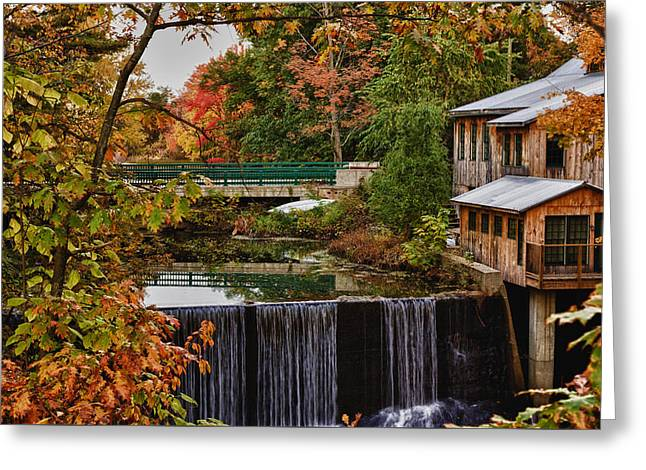 New England Color Greeting Cards - Hadley upper mill in autumn Greeting Card by Jeff Folger
