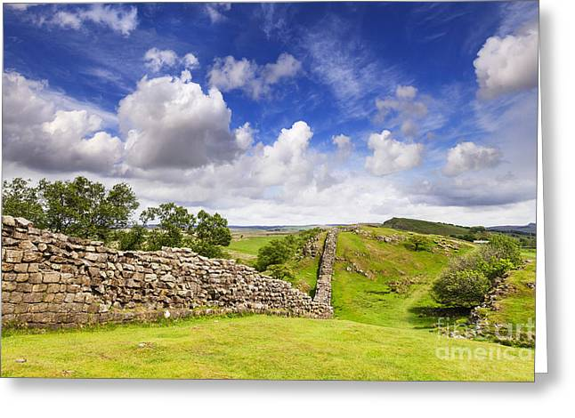 Crag Greeting Cards - Hadrians Wall Greeting Card by Colin and Linda McKie