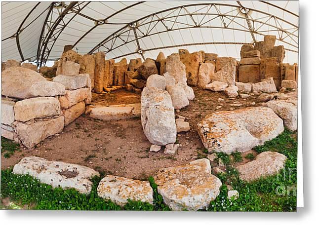 Hagar Quim Temple Malta Greeting Card by Frank Bach