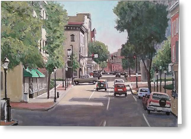 21st Greeting Cards - Hagerstown Square Greeting Card by David Zimmerman