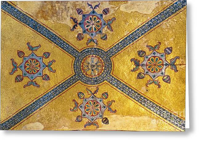 Religious Art Photographs Greeting Cards - Hagia Sofia Interior 03 Greeting Card by Antony McAulay