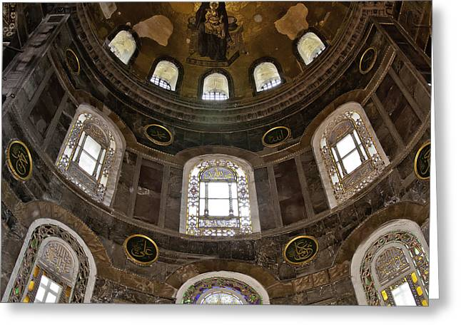 Hagia Sofia Greeting Cards - Hagia Sofia Interior 06 Greeting Card by Antony McAulay