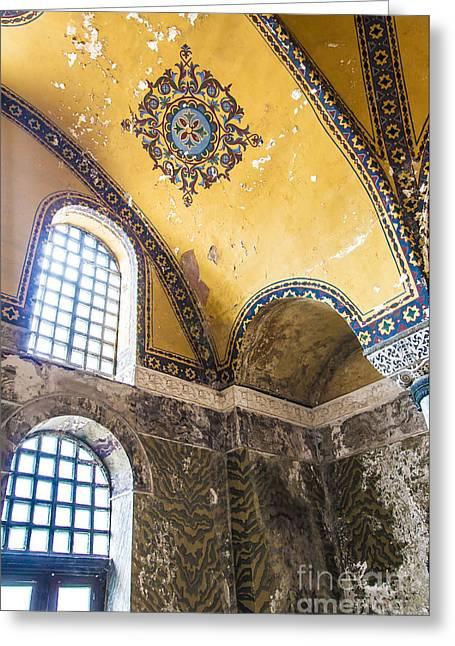 Religious Art Photographs Greeting Cards - Hagia Sofia Interior 14 Greeting Card by Antony McAulay