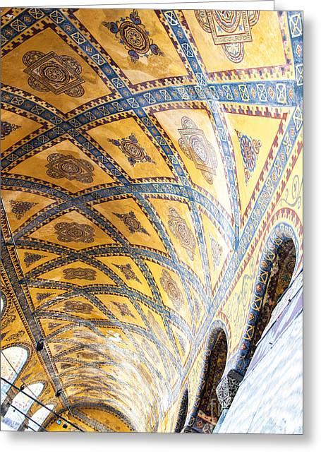 Religious Art Photographs Greeting Cards - Hagia Sofia Interior 16 Greeting Card by Antony McAulay