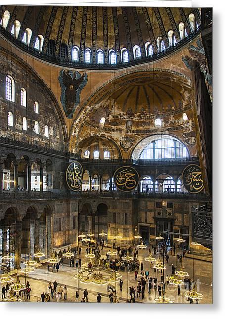 Religious Art Photographs Greeting Cards - Hagia Sofia Interior 30 Greeting Card by Antony McAulay
