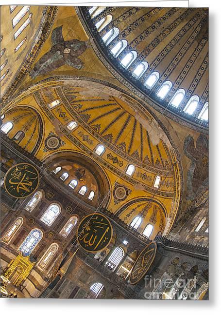 Religious Art Photographs Greeting Cards - Hagia Sofia Interior 32 Greeting Card by Antony McAulay