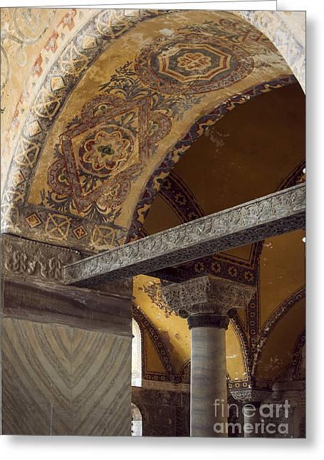 Religious Art Photographs Greeting Cards - Hagia Sofia Interior 49 Greeting Card by Antony McAulay