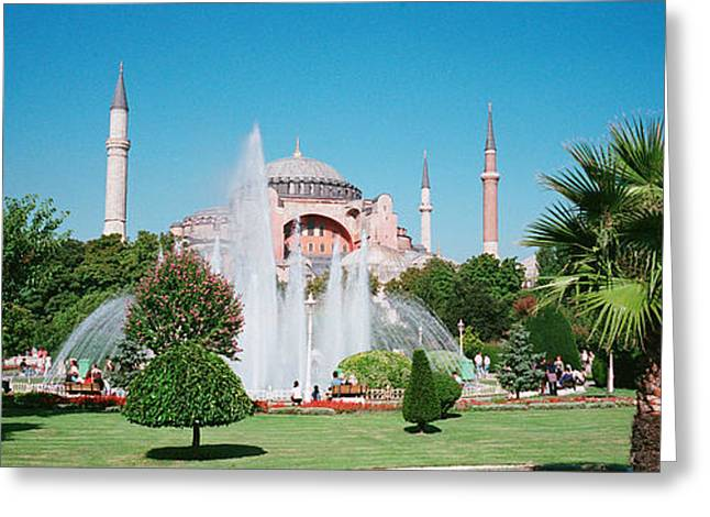 Hagia Sofia Greeting Cards - Hagia Sofia Istanbul Turkey Greeting Card by Panoramic Images