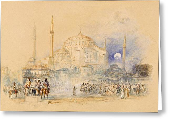Hagia Sophia Greeting Cards - Hagia Sofia Greeting Card by Joseph Mallord William Turner