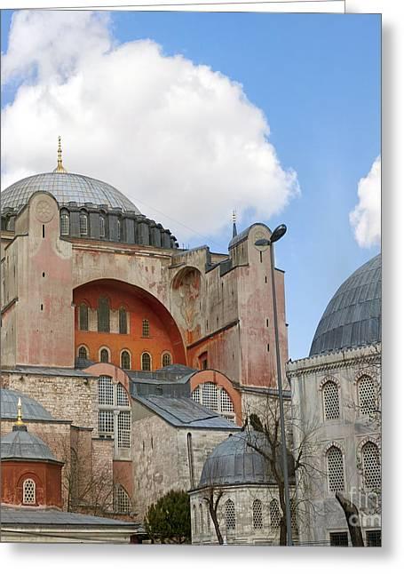 Haghia Sophia Mosque Greeting Cards - Hagia Sophia 02 Greeting Card by Antony McAulay