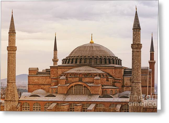 Hagia Sophia 06 Greeting Card by Antony McAulay