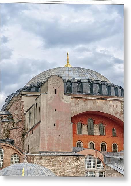 Haghia Sophia Mosque Greeting Cards - Hagia Sophia 09 Greeting Card by Antony McAulay