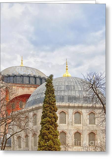 Hagia Sophia 11 Greeting Card by Antony McAulay