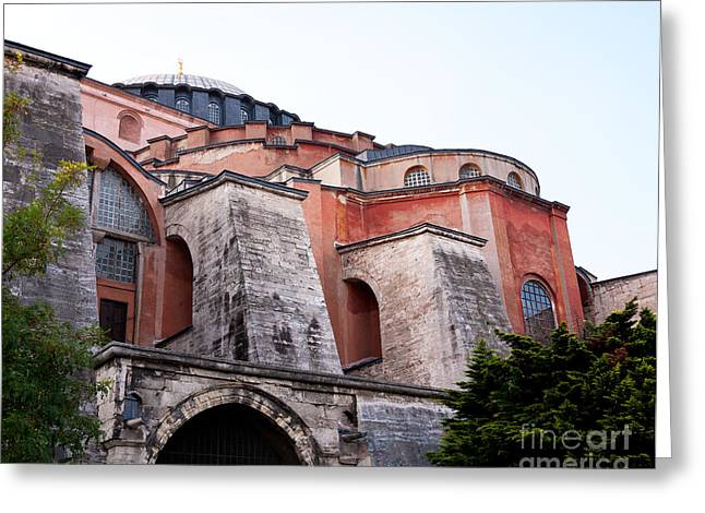 Haghia Sophia Mosque Greeting Cards - Hagia Sophia Buttresses Greeting Card by Rick Piper Photography