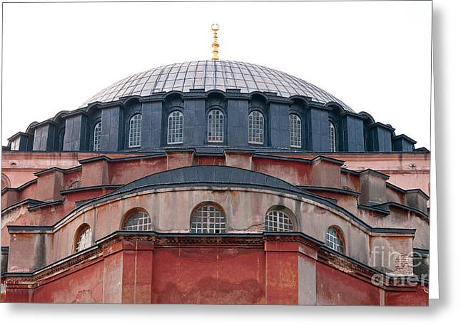 Haghia Sophia Mosque Greeting Cards - Hagia Sophia Curves 02 Greeting Card by Rick Piper Photography