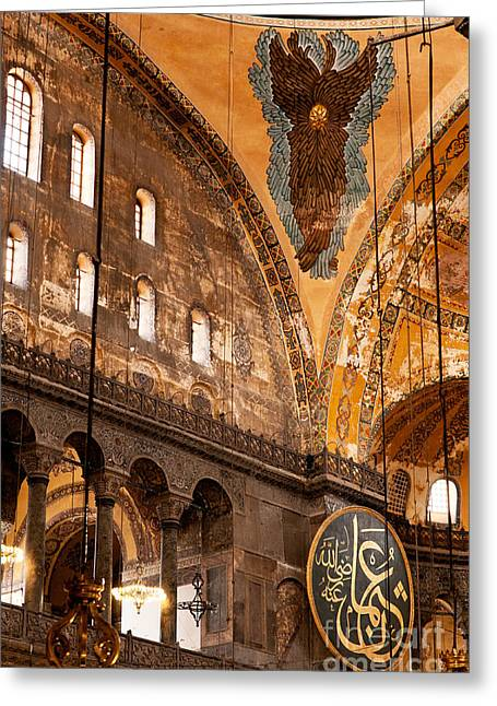 Haghia Sophia Mosque Greeting Cards - Hagia Sophia Interior 07 Greeting Card by Rick Piper Photography