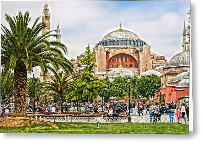 2013 Greeting Cards - Hagia Sophia Istanbul 2013 Greeting Card by Lutz Baar