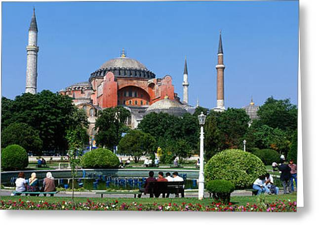 Hagia Sophia Greeting Cards - Hagia Sophia, Istanbul, Turkey Greeting Card by Panoramic Images