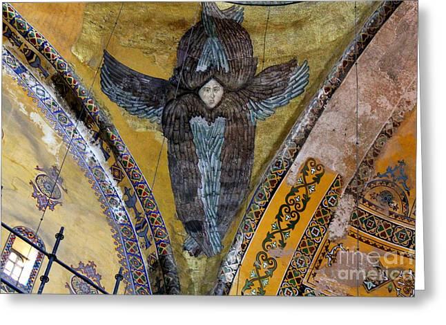 Seraphim Angel Greeting Cards - Hagia Sophia Greeting Card by Maxine Kamin