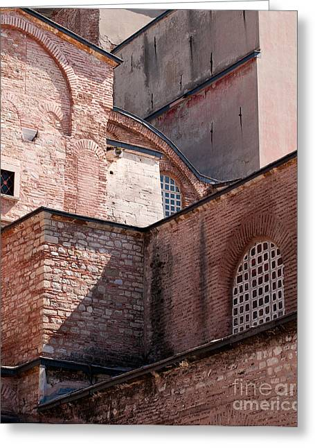 Haghia Sophia Mosque Greeting Cards - Hagia Sophia Walls 02 Greeting Card by Rick Piper Photography