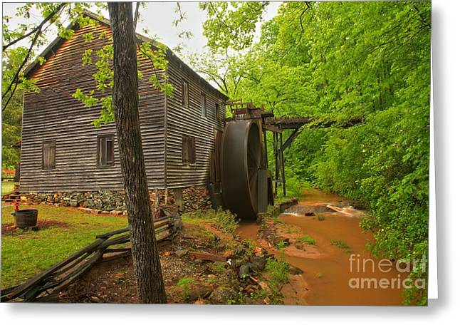 Grist Mill Greeting Cards - Hagood Grist Mill Creek Greeting Card by Adam Jewell