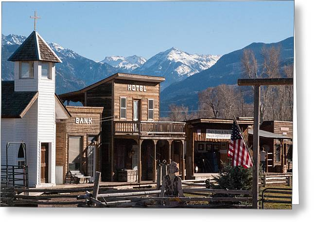 Geobob Greeting Cards - Hags Ranch Movie Set Ridgway Colorado Greeting Card by Robert Ford