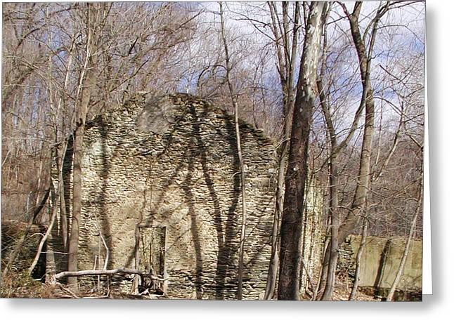 Paper Mill Greeting Cards - Hagys Paper Mill Ruin  Greeting Card by Bill Cannon