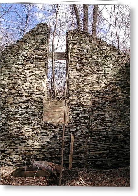 Paper Mill Greeting Cards - Hagys Paper Mill Ruin - Interior Greeting Card by Bill Cannon