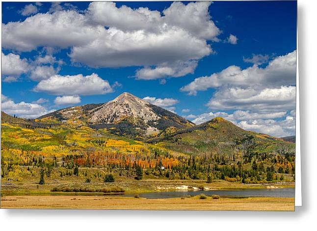 Scenic Drive Greeting Cards - Hahn Peak and Steamboat Lake State Park Greeting Card by Teri Virbickis