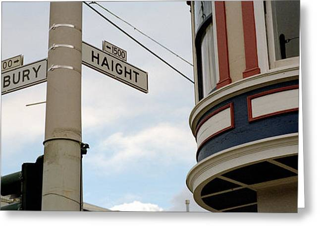 Signing-up Greeting Cards - Haight Ashbury District San Francisco Ca Greeting Card by Panoramic Images
