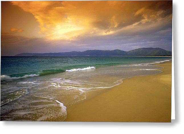 China Beach Greeting Cards - Hainan beach 4 Greeting Card by Dennis Cox ChinaStock